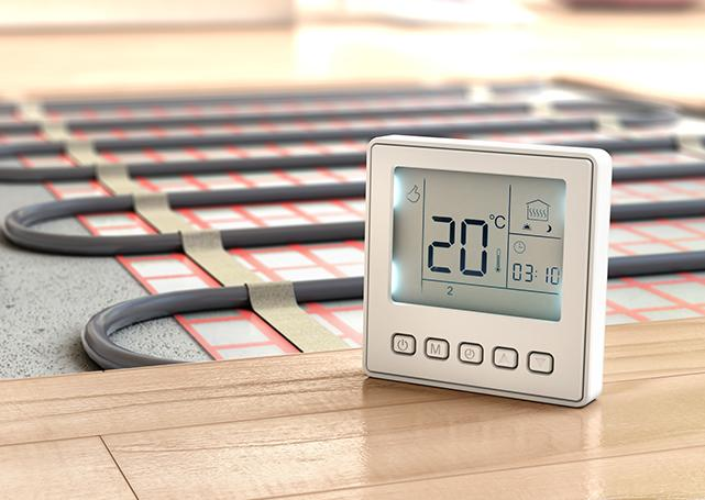 Instalacja grzewcza ztermometrem